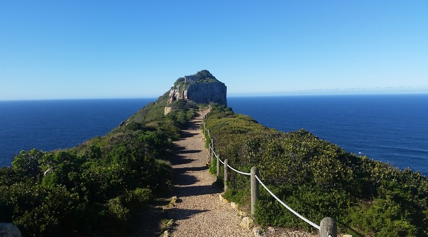 The path to the new light house at Cape Point